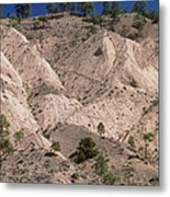 Hill Soil Erosion Caused By Over-grazing Metal Print