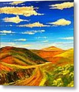 Hill View Valley Metal Print