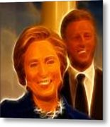 Hillary Rodham Clinton - United States Secretary Of State - Bill Clinton Metal Print by Lee Dos Santos