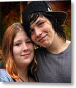 Him 'n Her - Young Lovers Metal Print