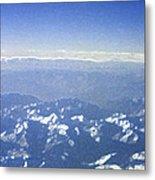 Himalayas Blue Metal Print