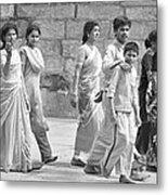 Hindu Pilgrims In Madurai Metal Print