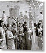 Hindu Pilgrims Metal Print