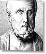 Hippocrates, Greek Physician, Father Metal Print