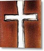 His Cross Metal Print