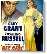 His Girl Friday, Cary Grant, Rosalind Metal Print by Everett