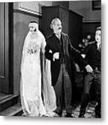 His Marriage Wow, 1925 Metal Print