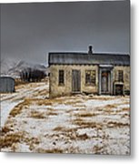 Historic Farm After Snowfall Otago New Metal Print by Colin Monteath