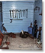 Historic Locomotive Carriage - Tools Metal Print