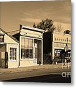 Historic Niles District In California Near Fremont . Main Street . Niles Boulevard . 7d10676 . Sepia Metal Print