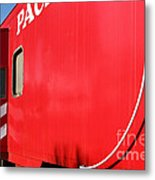 Historic Niles District In California Near Fremont . Western Pacific Caboose Train . 7d10724 Metal Print