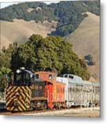 Historic Niles Trains In California . Old Southern Pacific Locomotive And Sante Fe Caboose . 7d10818 Metal Print