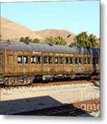 Historic Niles Trains In California . Old Western Pacific Passenger Train . 7d10836 Metal Print by Wingsdomain Art and Photography
