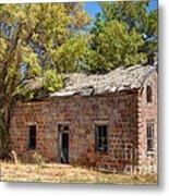 Historic Ruined Brick Building In Rural Farming Community - Utah Metal Print