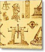 Historical Astronomy Instruments Metal Print