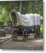 Historical Frontier Covered Wagon Metal Print