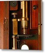 Historical Microscope Metal Print