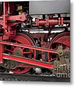 Historical Steam Train Metal Print
