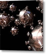 Hiv Particles Metal Print by Robert Brocksmith