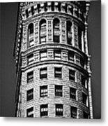 Hobart Building In San Francisco Ll - Black And White Metal Print