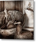 Hobby - Wood Carving - Wooden Toys Metal Print by Mike Savad