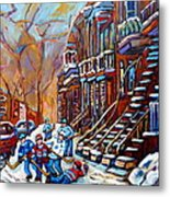 Hockey Art Montreal Streets Metal Print