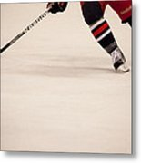 Hockey Stride Metal Print