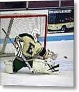 Hockey The Big Reach Metal Print