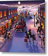 Holiday Shopper Ants Metal Print