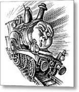Holiday Train, Conceptual Artwork Metal Print by Bill Sanderson