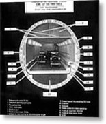 Holland Tunnel Section View Metal Print