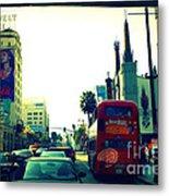 Hollywood Boulevard In La Metal Print