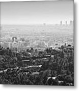 Hollywood From Above Metal Print