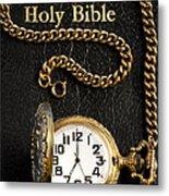 Holy Bible Pocket Watch 1 Metal Print
