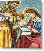 Holy Family At Catholic Church Metal Print