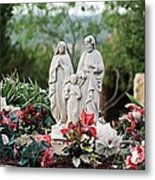 Holy Family In The Garden Metal Print