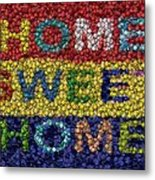 Home Sweet Home Bottle Cap Mosaic  Metal Print by Paul Van Scott