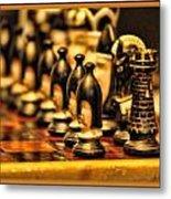 Homemade Chess Metal Print