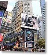 Hong Kong Crowd Metal Print