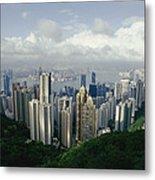 Hong Kong Island And The Bay Metal Print