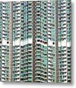 Hong Kong Residential Building Metal Print