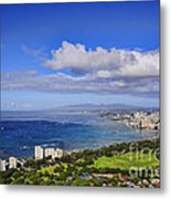 Honolulu From Diamond Head Metal Print