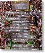 Honolulu Zoo Signs Metal Print