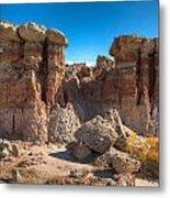 Hoodoos At Gooseberry Desert Wyoming Metal Print