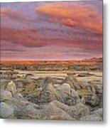 Hoodoos, Milk River Badlands, Writing Metal Print
