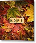 Hope-autumn Metal Print
