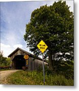 Hopkins Covered Bridge Metal Print