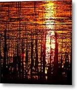 Horicon Marsh Sunset Wisconsin Metal Print