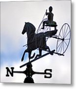 Horse And Buggy Weather Vane Metal Print