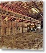 Horse Barn Barbour County Metal Print